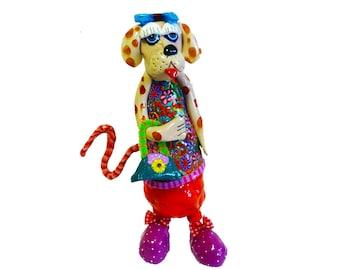Dog sculpture, Dog Art, Dog decor, Dog gift, Dog figurine, Dog, pet sculpture, Dog statue, Dog ornament, Animal sculpture, Handmade Dog
