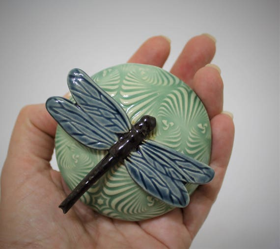Ceramic Meditation Rattle - Shaman Rattle - Spirit Rattle - Clay Rattle - Dragonfly - Meditation Altar - Relax - Handmade Pottery - Musical