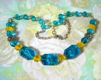 Sunflower Glass Necklace