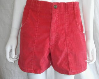 OP Ocean Pacific Red  Corduroy shorts    Waist W 30