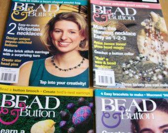 Bead & Button Magazine Issues #17 thru #22 Feb 1997 thru Dec 1997 6 Back Issues Bead Magazines