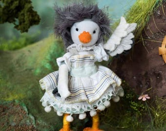 Ducky, sewing pattern, PDF, poseable doll