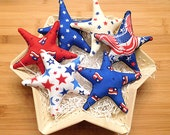 Independence Day  Patriotic Stars Bowl Fillers Red White and Blue Ornaments Holiday Decorations