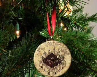 "Harry Potter Marauder's Map Image Christmas Tree 2.25"" Ornament"