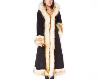 Baroness Creambrule & Black Faux Fur Coat