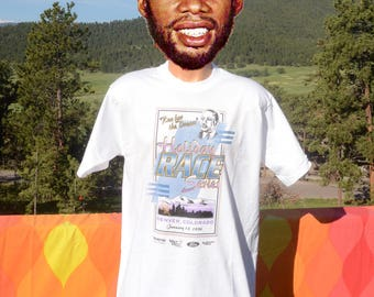 vintage 90s t-shirt MARTIN LUTHER KING run dream road race colorado mlk tee Large new