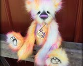 Afterglow KIT - make your own 17IN rainbow faux fur artist bear