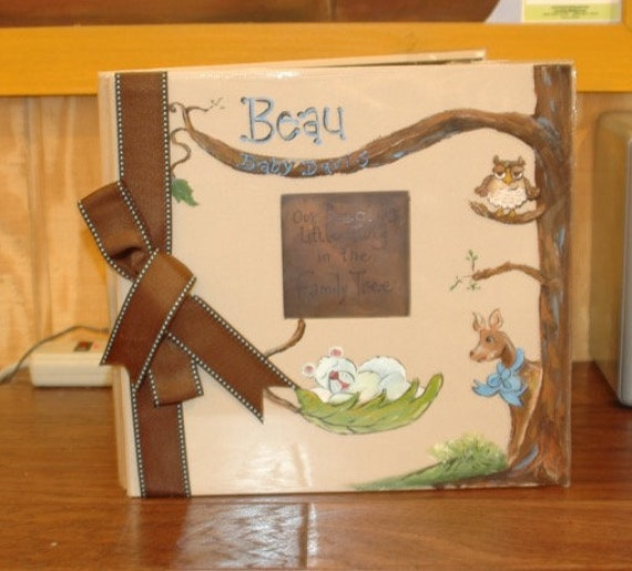 Forest Animal Baby Memory Book | Baby Book Our Little Twig | Keepsake Book Personalized