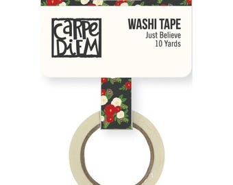 Just Believe Very Merry Washi Tape Simple Stories Flower Washi Tape (9261)
