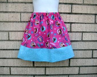 Disney skirt, Disney Princesses on Hot Pink skirt 6M to size 8
