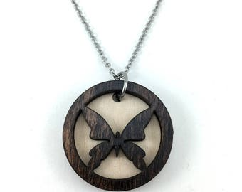 Butterfly Essential Oil Necklace, Aromatherapy Jewelry, Butterfly Essential Oil Jewelry, Diffuser Necklace, Butterfly Pendant, Gift for Her