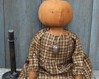 Primitive Pumpkin Doll- Marigold