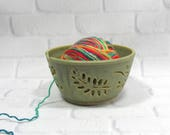 Yarn Bowl - Knitting Bowl - Pottery Yarn Bowl - Ceramic Yarn Bowl - Crochet Bowl - Yarn Holder - Bowl for Knitters - Yarn Keeper
