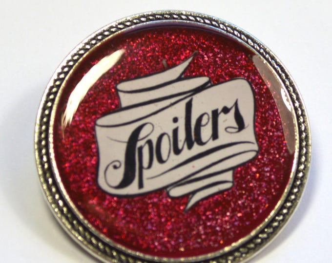 "Dr.Who Doctor Who River Song ""Spoilers"" Resin Brooch"