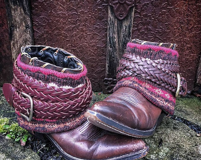 Luxury BOHEMIA Sweater Boots ~ Custom Reworked Bohemian Gypsy Indie Boots, Women's size US 7M ~ Ready to Ship