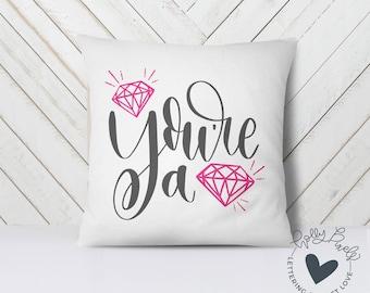 Valentine SVG | You're a Gem | Bling SVG | Valentines Day SVG | Teen Valentine svg | Valentine Cut File | Diamonds svg | svg for Valentine