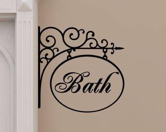 wall quote hanging bath washroom restroom sign bathroom spa vinyl wall decal