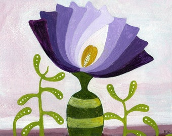 Striped Vase-Original Acrylic Painting by Roberta Warshaw