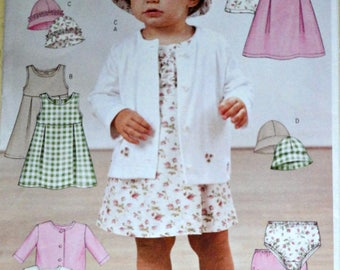 Butterick 3782 Sewing Pattern, Infants' Jacket, Dress, Panties And Hat, Size S-M-L-XL, Uncut FF