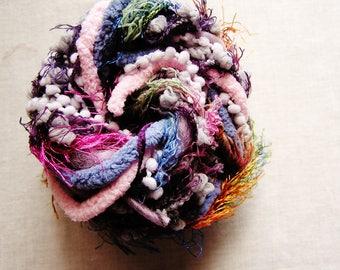 Passionfruit purple rainbow mix Pom Pom Puffy Fringe Trim Embellishment