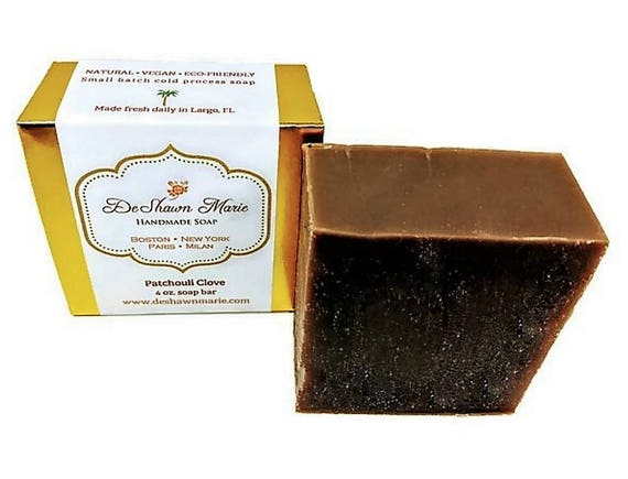 SOAP- Patchouli Clove Soap, Cold Process Soap, Natural Soap, Vegan Soap, Father's Day Gift, Christmas Gift, Vegan Gift, Hippie Gift, Favors