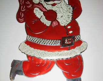 Vintage (1950s) Foil Santa - Retro Christmas Decoration