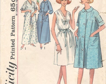 Simplicity 5001 1960s Misses Nightgown and Robe  Pattern Womens Vintage Sewing Pattern Size Large 18 20 Bust 38 40