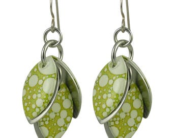 Bubblicious Earrings in Golden Lime