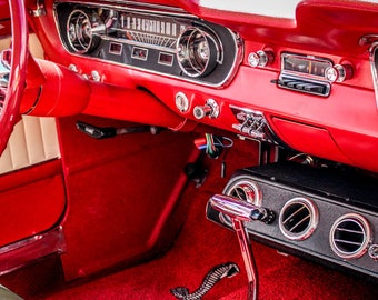 1965 Ford Mustang Shelby GT350 Interior Car Photography, Automotive, Muscle, Sports Car, Mechanic, Boys Room, Garage, Dealership Art