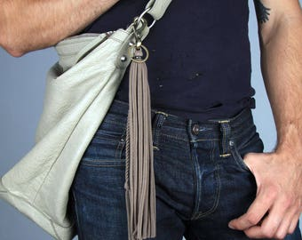 Bag Tassel, Handbag Tassel, Keychain, Beige Keychain, Daughter Gift, Gift for Daughter, Graduation Gift, Key Fob, Key Chain, Tassel Keychain