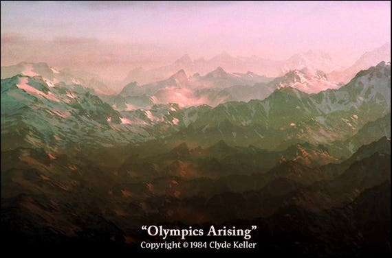 OLYMPICS ARISING, Mt. Olympus, Hurricane Ridge, Clyde Keller photo