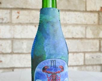 Scorpio Drink Insulator - Bottle Insulator - Bottle Hugger - Beverage Insulator - Bottle Cover - Pop Bottle Cover - Zodiac Gifts for Scorpio