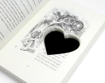 Alice In Wonderland Ring Box Handmade Out Of A Real Book With A Heart Shaped Secret Stash Spot Wedding Engagement Proposal - READY TO SHIP