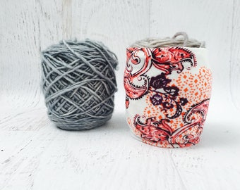 Boho Yarn Organizer- Yarn Sleeve- Yarn Keeper- Yarn Bowl- Yarn Saver- Yarn Storage- Gifts for Knitters- Crochet Accessories-  Skein Coats