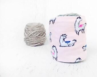Lt Pink Alpaca Yarn Bowl- Yarn holder- Yarn Organizer- Yarn Storage- Nerd Yarn cozy- Crochet Accessories- Yarn Holder- Skein Coats- Knitting