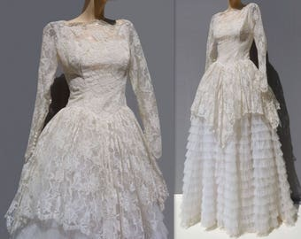 Lace Wedding Dress Vintage Tea Length Wedding Dress