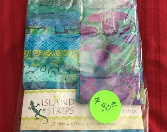 Tropical Batik 2 1/2 inch  strips