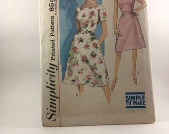 1960's Dress Pattern - Simplicity 4903 - Size 16 - Misses Dress - Simple To Make