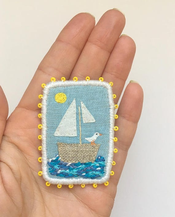 "Brooch ""Sailing Boat"""