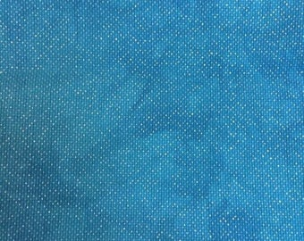 Hand Dyed Sparkly Aida Fabric- 18 Count