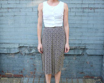 90's Floral Pleated Skirt