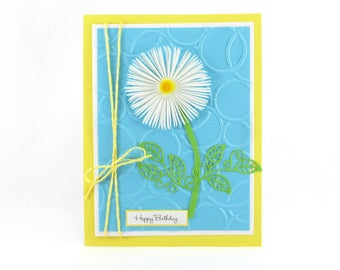 Birthday cards for her, daisy card, Happy Birthday cards, Birthday card for mom, Women's Birthday gift, personalized card