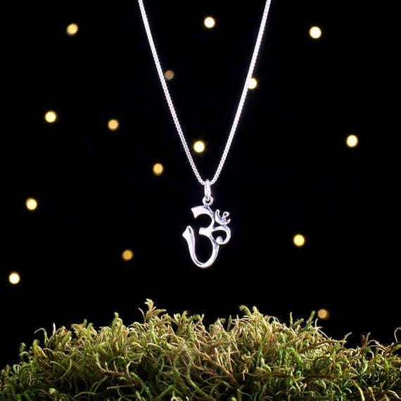 Sterling Silver Om Charm - Yoga Jewelry - (Charm, Necklace, or Earrings)