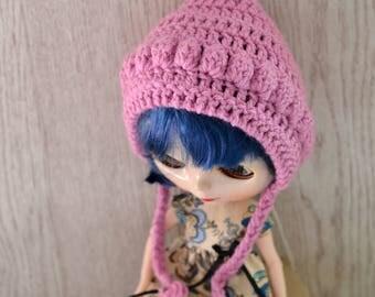 Dolls Rose Pink Crochet Pixie Elf Hat, Dolls Hat, Dolls Beanie Hat, Other Colours