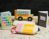 Teacher Appreciation printable gift card boxes kit, Calculator, School Bus, Composition Note Book, Pencil Shaped Box, Gifts for teachers