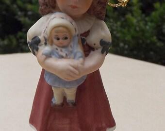 """Vintage 1984 """"Marie"""" Jan Hagara Doll Ornament Bisque Porcelain L.E. 2/34"""