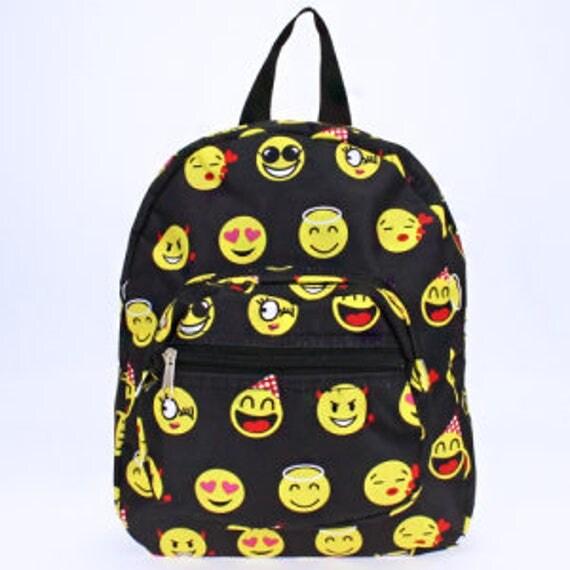 Personalized Preschool Backpack with Emoji Pattern