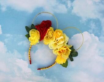 Bell Mickey Ears   Flower Crown Ears   Beauty and the Beast   Wire Mickey Ears   Boho Ears   Floral Mickey Ears