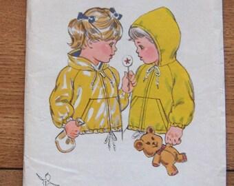 vintage kwik sew sewing pattern 956 girls boys toddlers lined windbreaker jacket uncut sz T1-T2-T3-T4