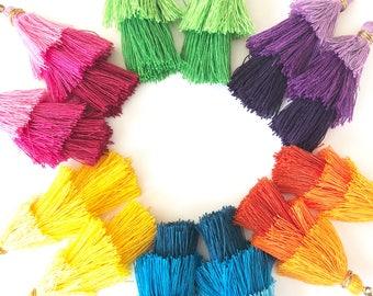 3-tier layered tassel colorful earrings. Bohemian earrings. Chandelier earrings. Cinco de Mayo accessories. Bright colorful dangle earrings.